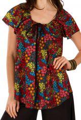 Tunique femme motifs floraux en coton pour l' été Jennyfer 292198