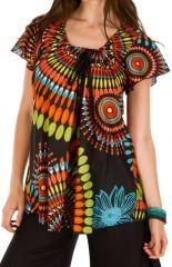 Tunique femme multicolore en coton pour l'été Miranda 292268
