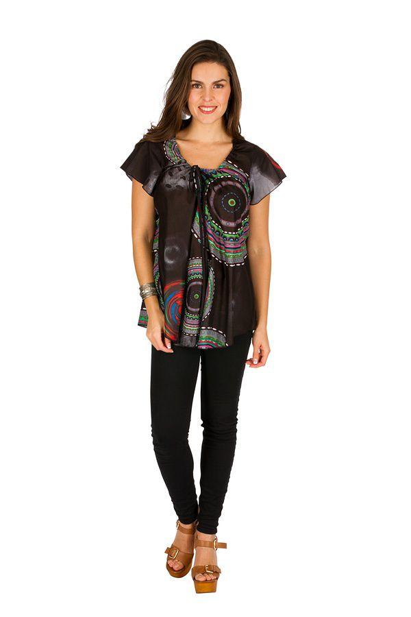 Tunique femme noire en coton pour l  été Jennyfer 289548. Loading zoom 368a8b0c18f