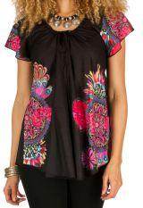 Tunique femme noire originale en coton pour l' été Jennyfer 292203