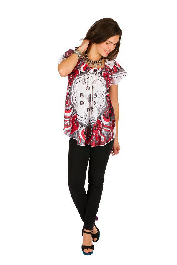 Tunique femme originale blanche en coton pour l' été Camilia 289524