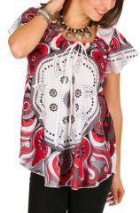 Tunique femme originale blanche en coton pour l' été Camilia 292240
