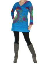 Tunique femme originale bleue marlyne 266368