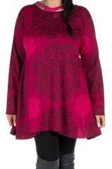 Tunique femme Originale en grande taille à mandalas Lazy Rose 301075