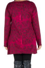 Tunique femme Originale en grande taille à mandalas Lazy Rose 301077
