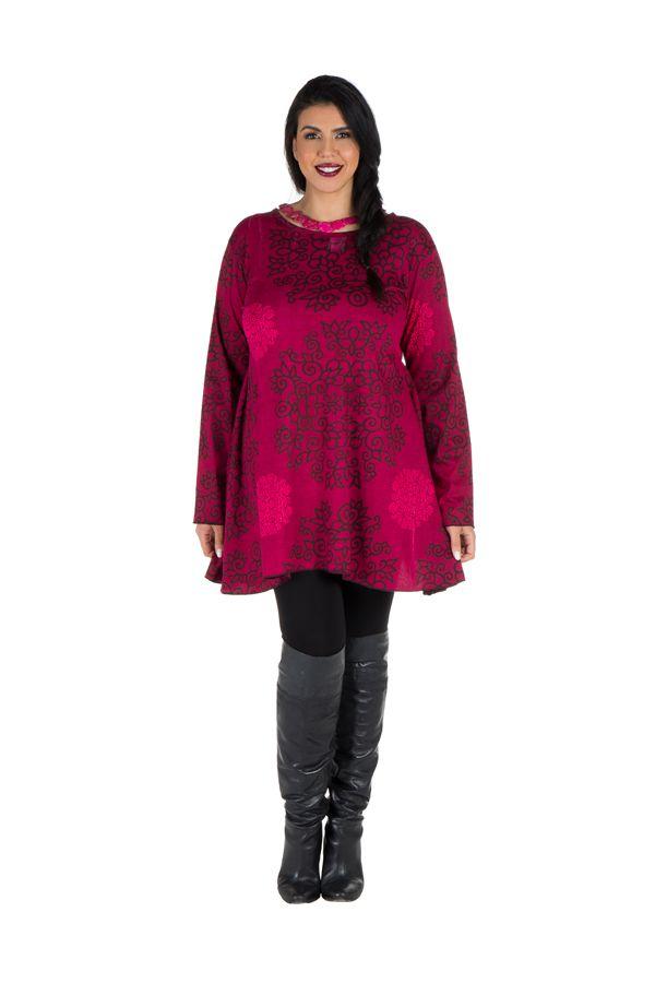 Tunique femme Originale en grande taille à mandalas Lazy Rose 301079