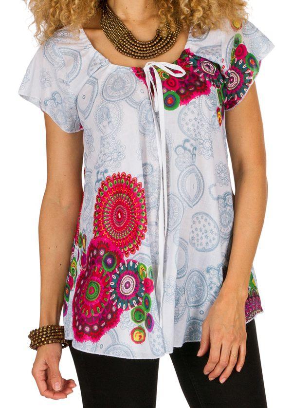 Tunique femme originale et colorée en coton pour l\' été Jennyfer