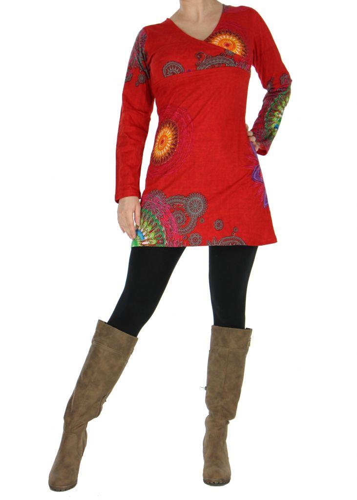 tunique femme originale rouge marlyne. Black Bedroom Furniture Sets. Home Design Ideas