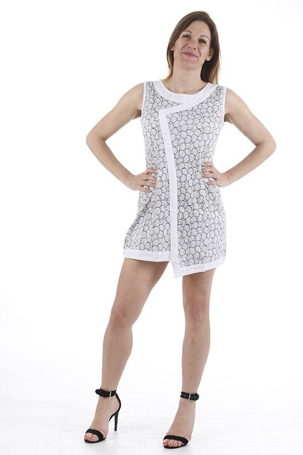 Tunique femme ou robe courte asymétrique ethnique Gloria 311374
