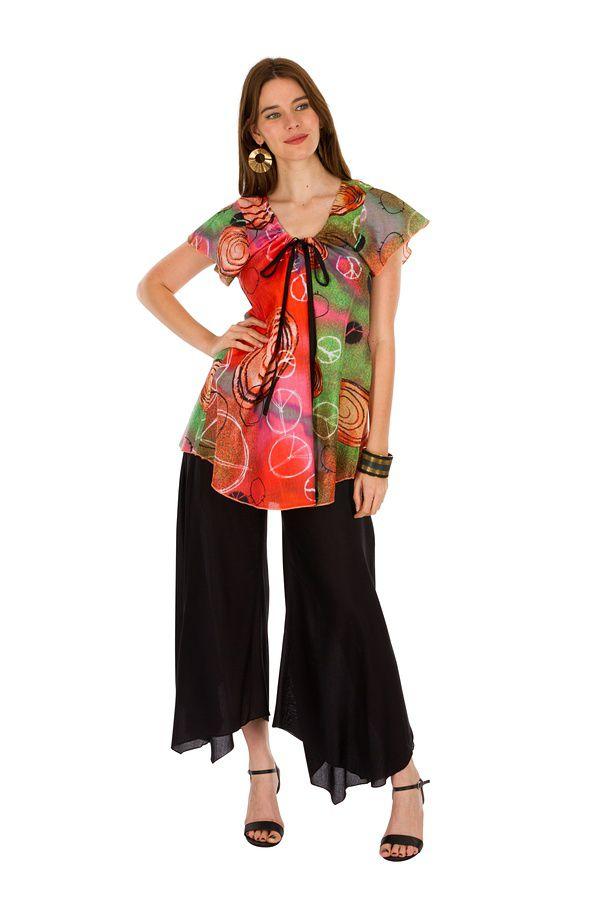 Tunique femme peace and love en coton pour l' été Camilia 289513