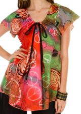 Tunique femme peace and love en coton pour l' été Camilia 292249