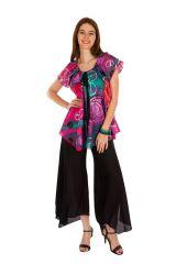 Tunique femme peace en coton pour l'été Miranda 289489
