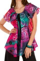Tunique femme peace en coton pour l'été Miranda 292272