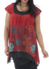Tunique femme ronde avec imprimés colorées Réna 295437