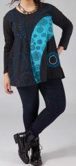 Tunique femme ronde Originale et Ethnique Idalie Bleue 274798