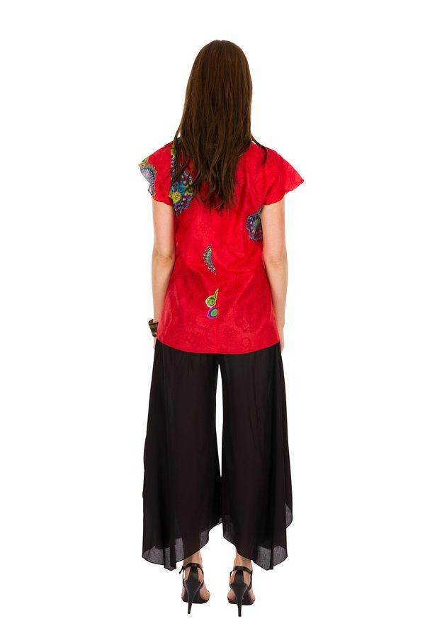 Tunique femme rouge en coton pour l' été Jennyfer 289551