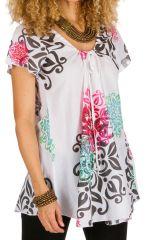 Tunique femme tendance et originale en coton pour l'été Miranda 292264