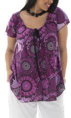 Tunique femmes rondes avec imprimé vintage et coloré lako 295341