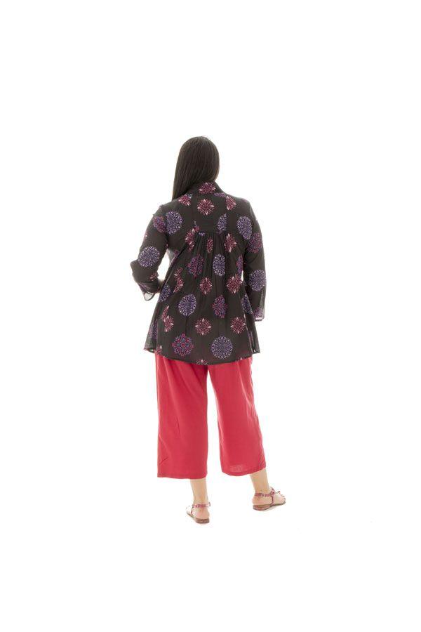 Tunique femmes rondes coupe ample et col v Thaly 295244
