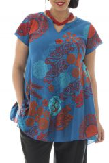 Tunique femmes rondes coupe ample et imprimés colorés Loréna 295692