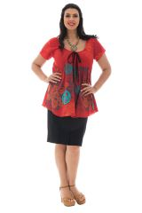 Tunique femmes rondes imprimé fleuri  lako 295348