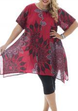 Tunique femmes rondes tendance coupe asymétrique Lucie 295679