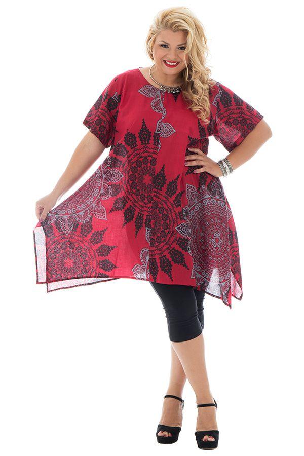 Tunique femmes rondes tendance coupe asymétrique Lucie 295680