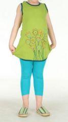 Tunique fille originale verte Mathilda 270901