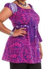 Tunique Grande Taille à ceinture amovible Arlette Violette 284463