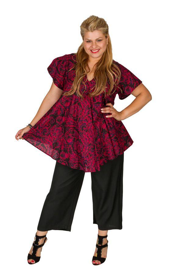 Tunique grande taille à manches courtes très légère Suzy 309831