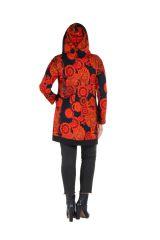 Tunique grande taille à manches longues Orange colorée avec capuche Flavie 300741