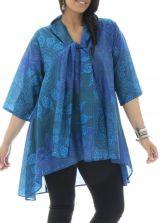 Tunique grande taille avec imprimés mandala et col étole Jazy 312988