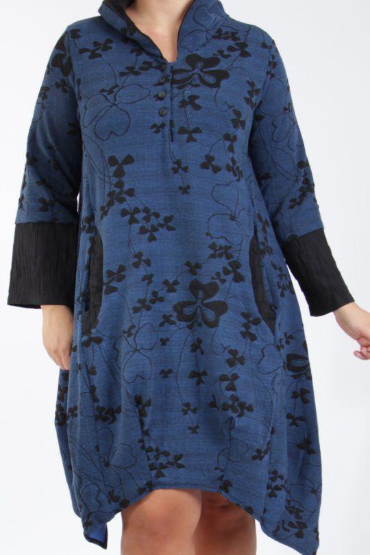 Tunique grande taille bleue bien chaude pour l'hiver Camille 305282
