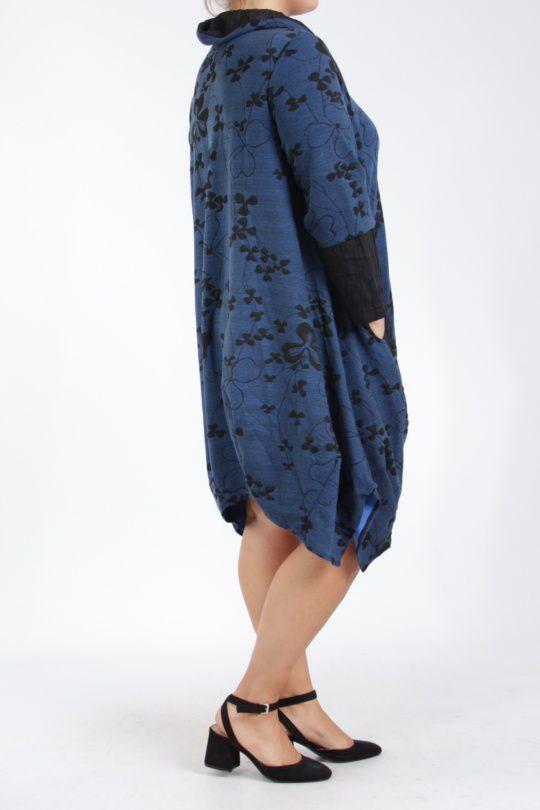 Tunique grande taille bleue bien chaude pour l'hiver Camille 305285
