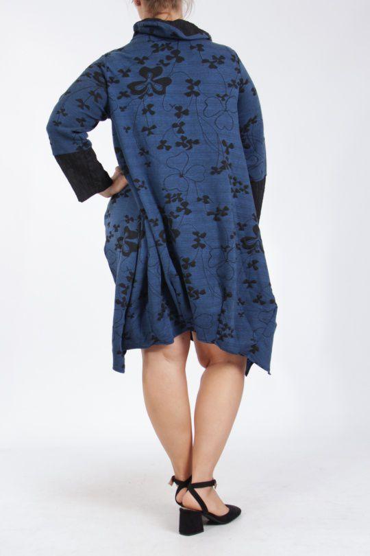 Tunique grande taille bleue bien chaude pour l\'hiver Camille