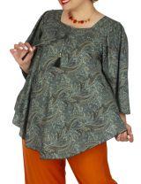 Tunique grande taille bohème moderne chic pour femme Flore
