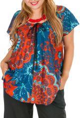 Tunique grande taille colorée avec un imprimé de fleurs Sofie 306421