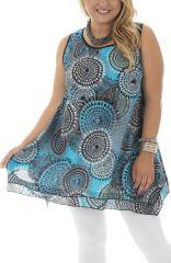 Tunique grande taille élégante avec imprimé seventies Laora 295515