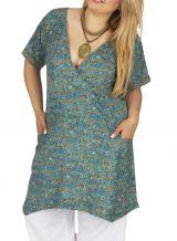 Tunique grande taille femme ample à col croisé Mélodie