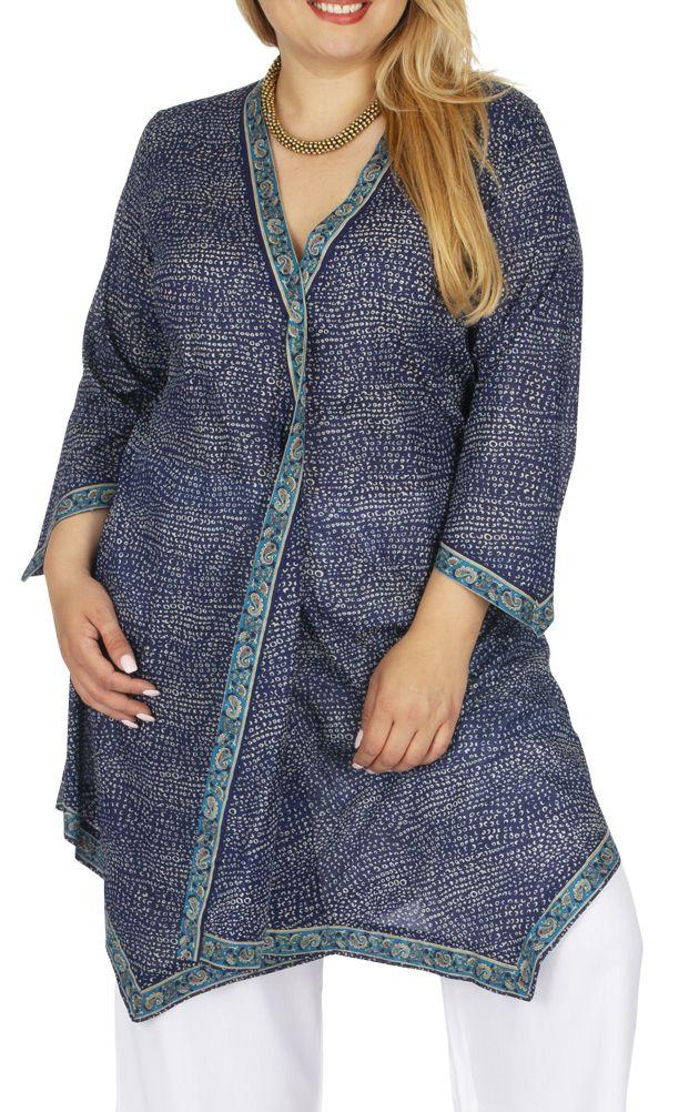 Tunique grande taille femme ample forme kimono Frankenal