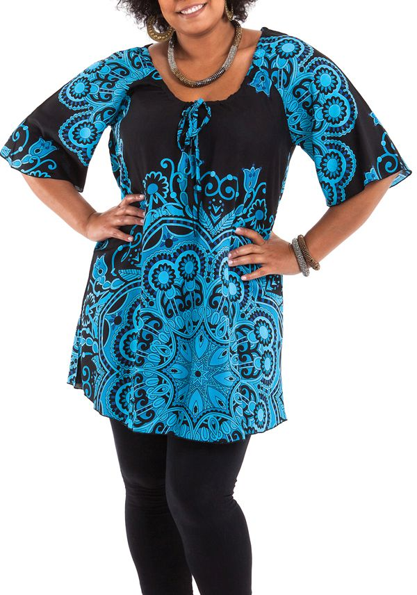 tunique grande taille femme chic et pas chère Apolline 284648