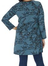 Tunique grande taille femme chic ethnique bleue Chamie 313793
