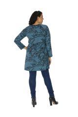 Tunique grande taille femme chic ethnique bleue Chamie 313795