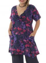 Tunique grande taille imprimé bohème violette Bertille 295299