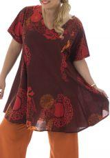 Tunique grande taille look ethnique avec imprimés Josy 295764