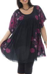 Tunique grande taille originale et fleurie Rana 295466