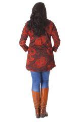 Tunique Grande taille Originale et Imprimée Diana Rouge 286451