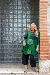 Tunique grande taille très jolie en tons verts Melissa 309845
