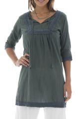 Tunique grise Originale pour femme Agréable et Ethnique Clara 295555