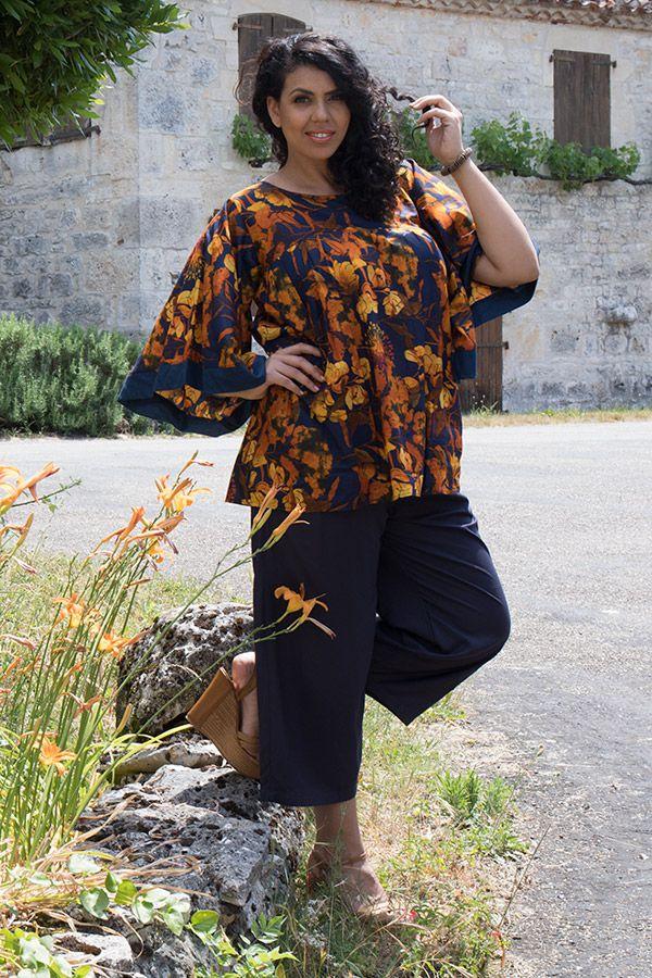 Tunique imprimé floral avec manches kimono Tammy 290437
